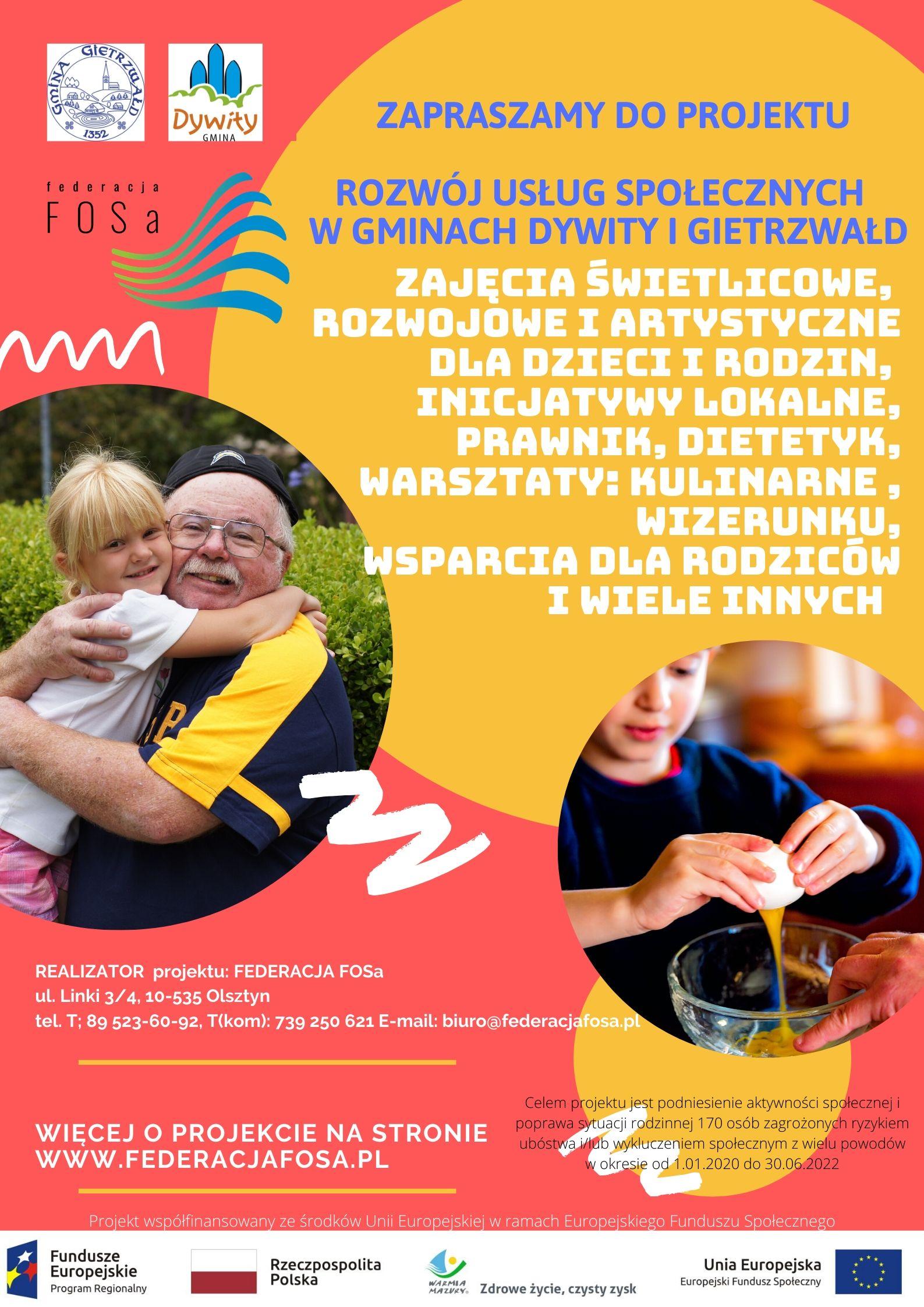 Rozwój usług społecznych w gminach Dywity i Gietrzwałd