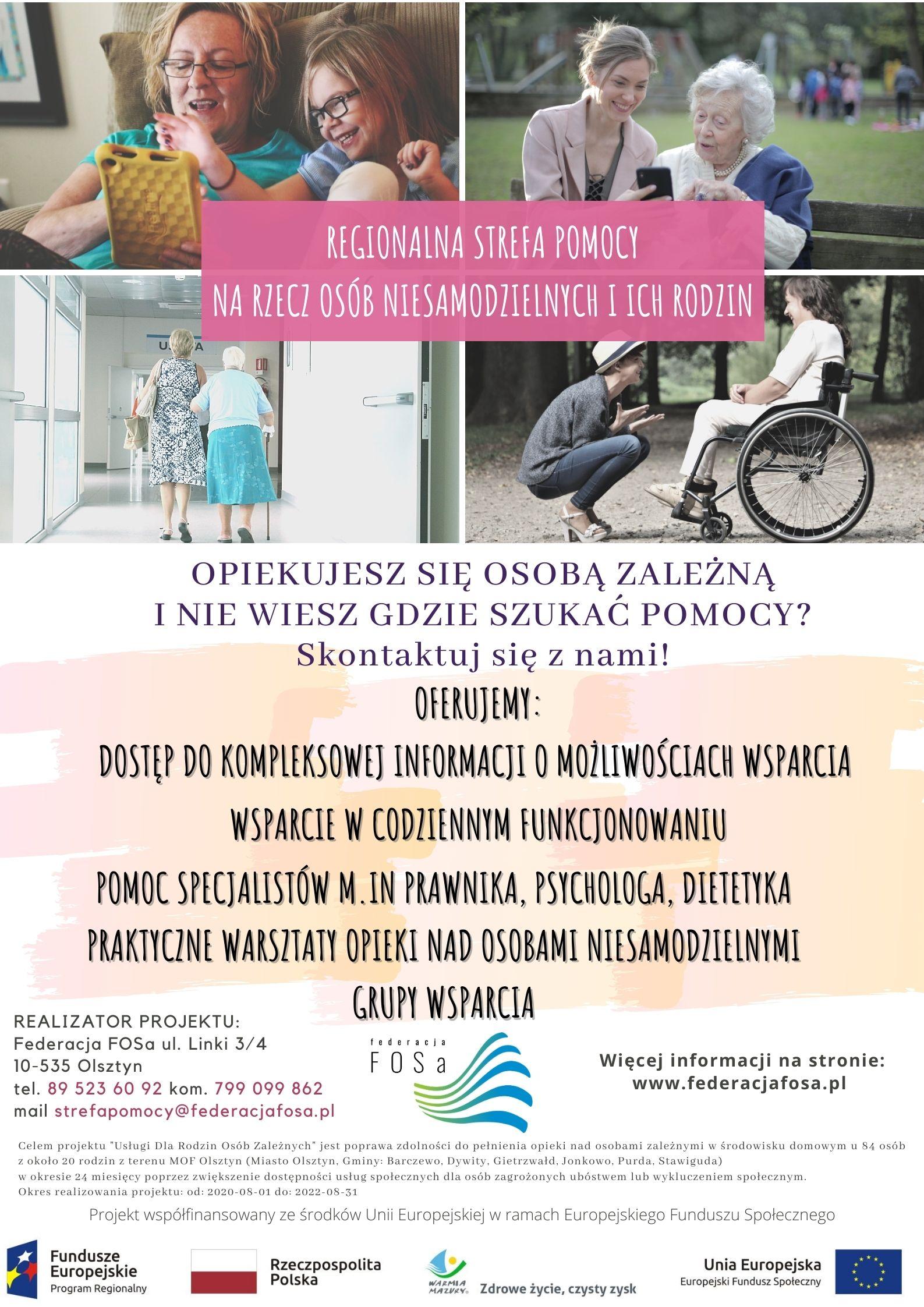 """Rusza projekt """"Usługi dla rodzin osób zależnych"""""""