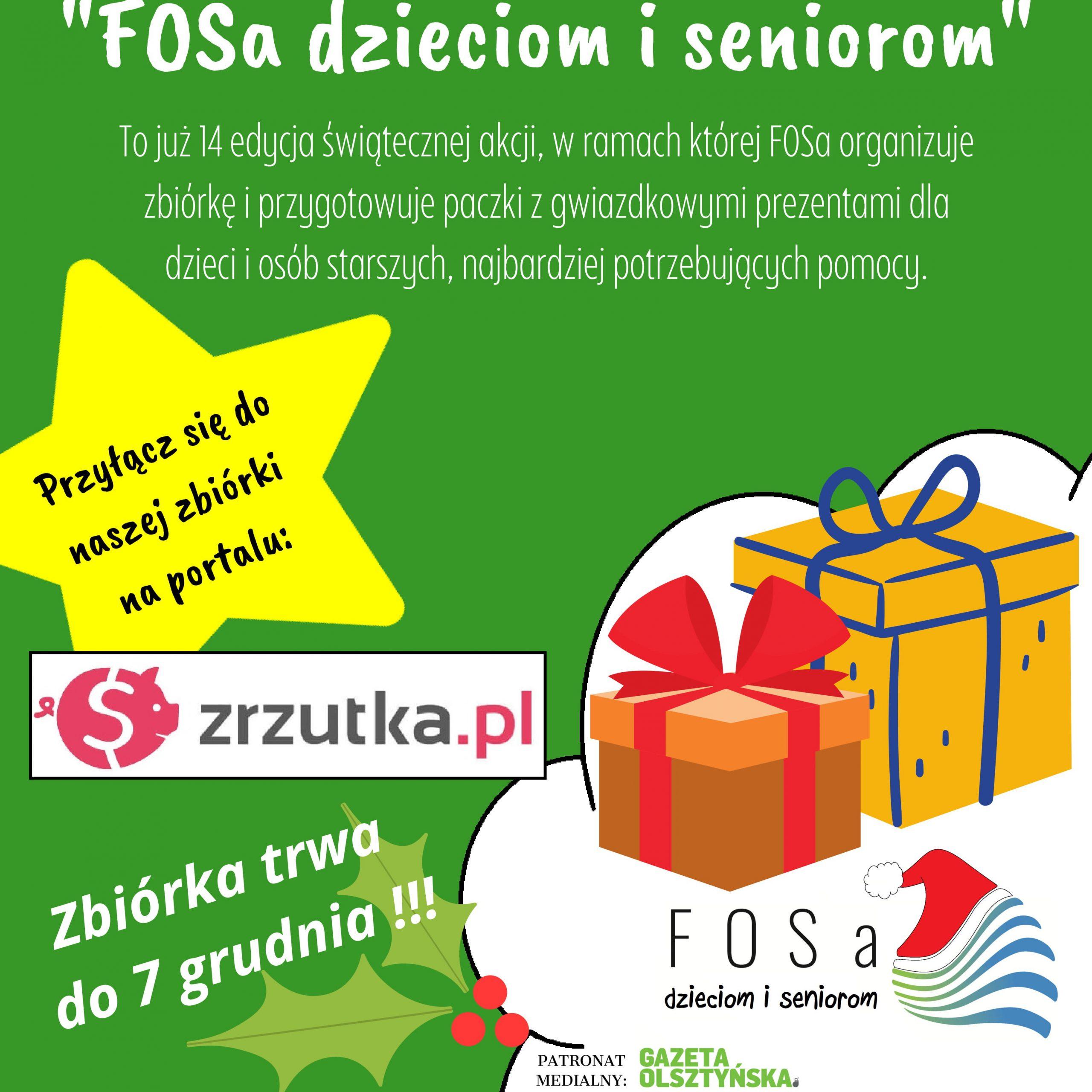 """""""FOSa dzieciom i seniorom"""" – ruszyła zbiórka"""